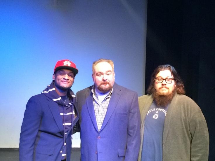 Left to right: Adam A. Anderson, Brad McEntire & me!